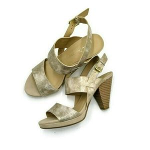 CL by Laundry - rose gold wide straps sandals
